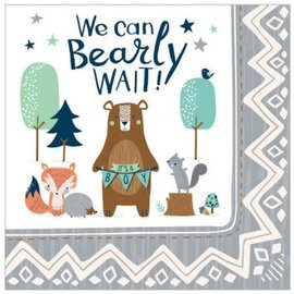 Bear-ly Wait Lunch Napkins 16Ct