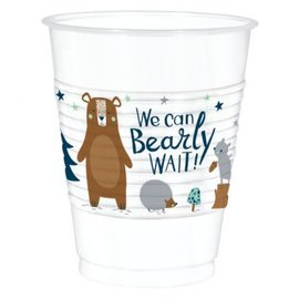 Bear-ly Wait Plastic Cups 16Oz 25Ct