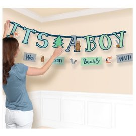 Bear-ly Wait Jumbo Letter Banner Kit 2Pc