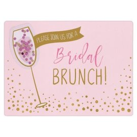 Bridal Shower Brunch Jumbo Deluxe Invitations, 8ct