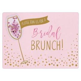 Bridal Shower Brunch Jumbo Deluxe Invitations, 8ct