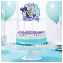 Mermaid Wishes Customizable Cake Topper