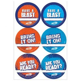 NERF STICKERS 24CT