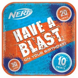 "Nerf 9"" Square Plates 8Ct"