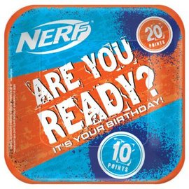 "Nerf® Square Plates, 7"" - 8ct"
