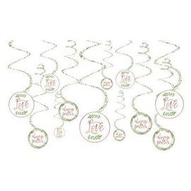 Love And Leaves Value Pack Spiral Decorations, 12ct