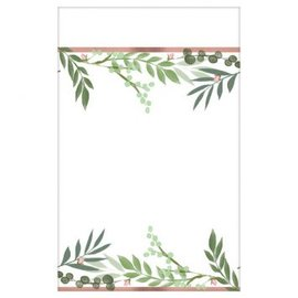 Love And Leaves Paper Table Cover