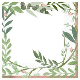 Love And Leaves Luncheon Napkins, 16ct