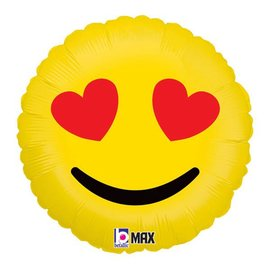 """Emoji Hearts Balloon, 18"""" (#228)"""