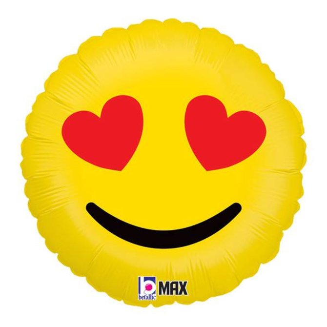 """Emoji Hearts Balloon, 18"""""""