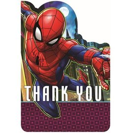 Spiderman Thank You Cards 8Ct