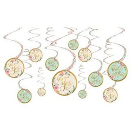 Mint To Be Value Pack Spiral Decorations 12ct