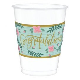 Mint To Be Plastic Cups 16oz.  25ct.
