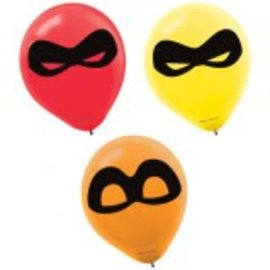 ©Disney/Pixar Incredibles 2 Printed Latex Balloons 6ct. - Clearance