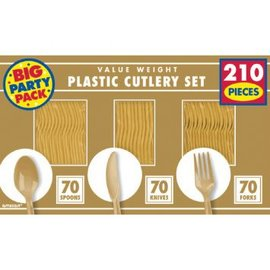 Gold Value Window Box Cutlery Set, 210ct