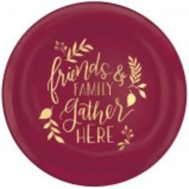 """Friends & Family Plastic Coupe Plates, 7 1/2"""" 4ct."""