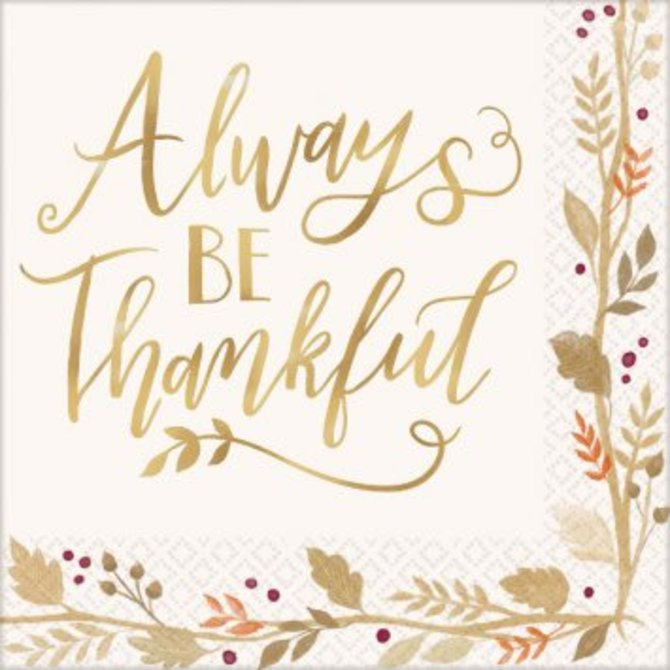 Always Be Thankful Luncheon Napkins 36ct.