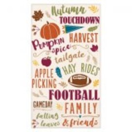 Fall Words Guest Towel 16ct.