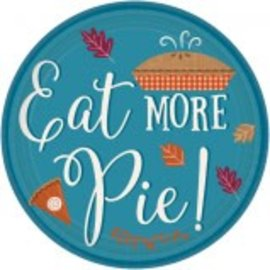 "Eat More Pie Paper Plates, 7"" 8ct."