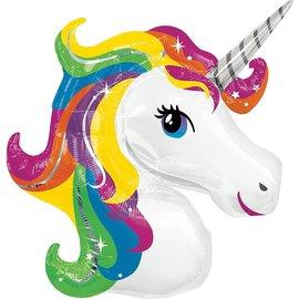 """Rainbow Unicorn Balloon, 33"""" (#236)"""