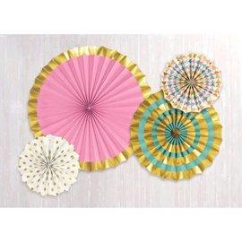 Hot Stamp Paper Fans - Pastel