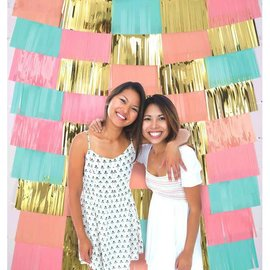Foil Decorating Backdrop - Pastel