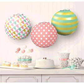 Round Paper Lanterns - Pastel