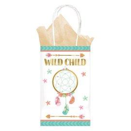 Boho Birthday Girl Paper Bags 8CT