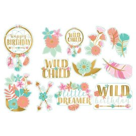Boho Birthday Girl Value Pack Cutouts 12CT
