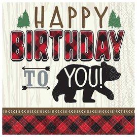 Little Lumberjack Birthday Beverage Napkins 16CT