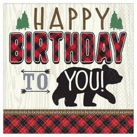 Little Lumberjack Birthday Luncheon Napkins 16CT