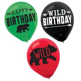 Printed Latex Balloons - Asst. Colors 15CT