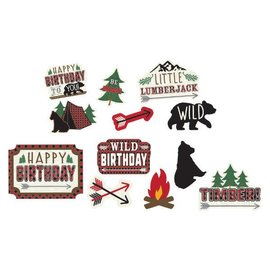 Little Lumberjack Birthday Value Pack Cutouts 12ct