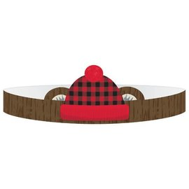 Little Lumberjack Birthday Paper Crowns 8ct
