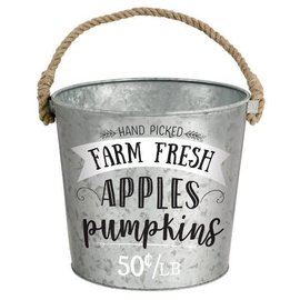 Fall Medium Galvanized Bucket
