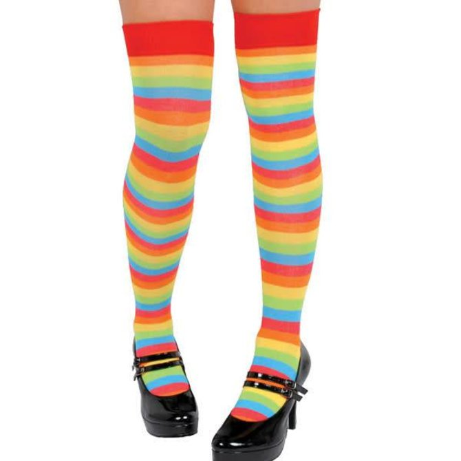 ef4795a56d8 Rainbow Striped Over the Knee Socks - POP! Party Supply