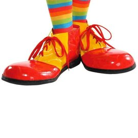 Clown Shoes Red/Yellow Adult