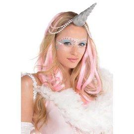 Silver Glitter Unicorn Horn Headband