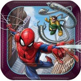 """Spider-Man Webbed Wonder 7"""" Dessert Plates 8ct"""