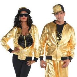 Gold Hip Hop Track Jacket