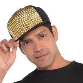 Gold Studded Hip Hop Hat