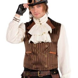 Steampunk Vest w/ Attached Shirt - Adult Standard