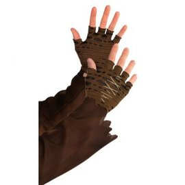 Witch Doctor Cropped Fingerless Gloves- Men's