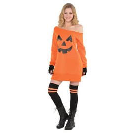 Pumpkin Off Shoulder Tunic - Adult Standard
