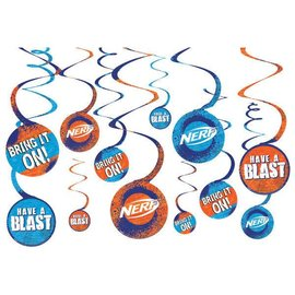 Nerf® Spiral Decorations  12ct value pack