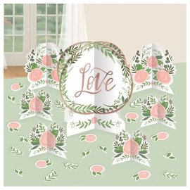 Love And Leaves Table Centerpiece Decoration Kit
