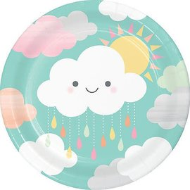 Happy Clouds Lunch Plates 8ct