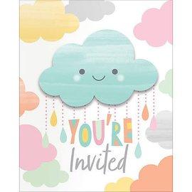 Happy Clouds Invitations 8ct