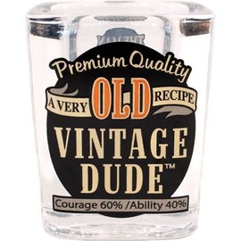 Vintage Dude 2 Oz. Shot Glass