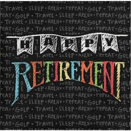 Retirement Chalk Beverage Napkins 16ct